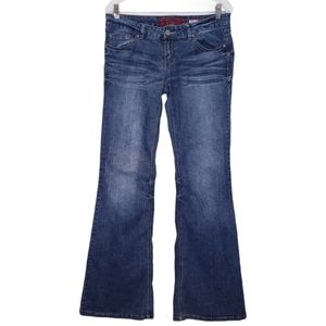 Vintage Bongo Dark Wash Low Rise Flare Jeans 11